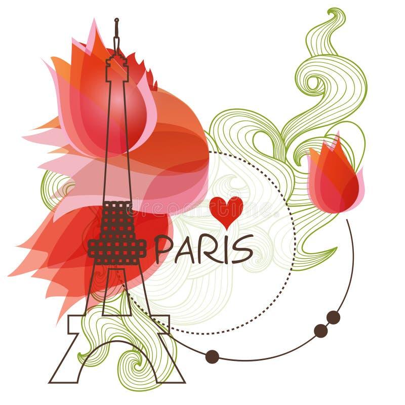 bakgrund paris stock illustrationer