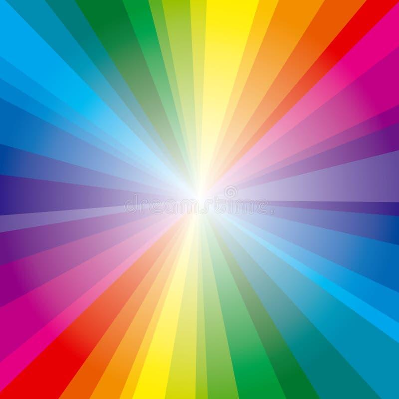 bakgrund rays spectrum royaltyfri illustrationer