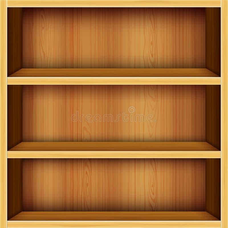 bakgrund shelves trä stock illustrationer