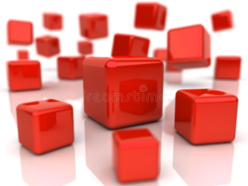 bakgrund skära i tärningar red royaltyfri illustrationer