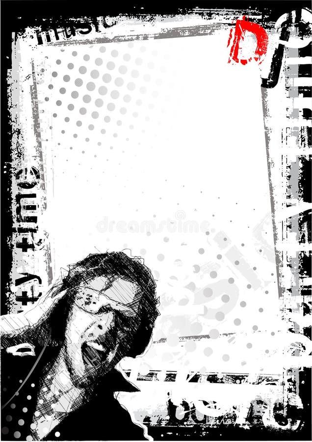 bakgrund smutsig dj vektor illustrationer