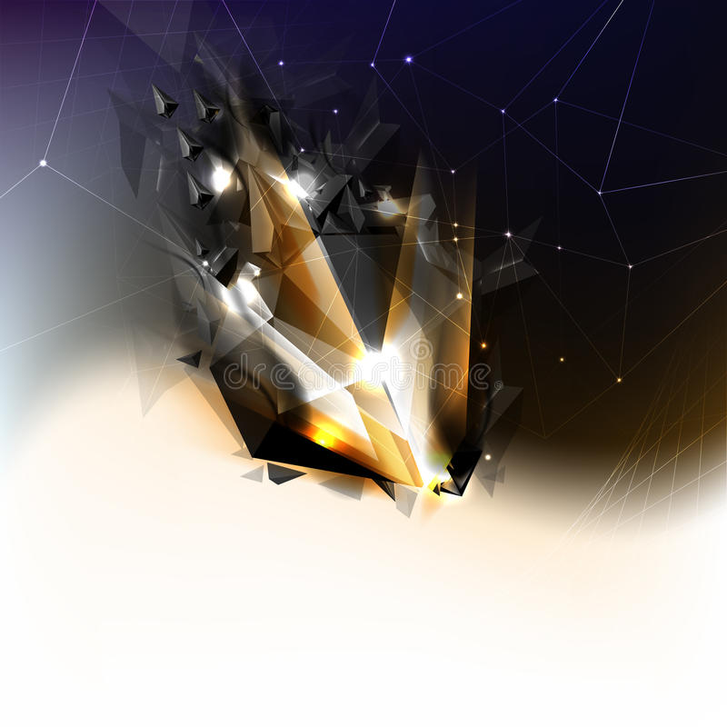 bakgrund som brister den futuristic vektorn för komet stock illustrationer