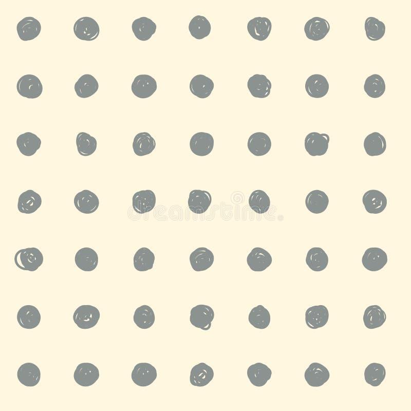 Bakgrund som göras av, klottrar cirklar vektor illustrationer