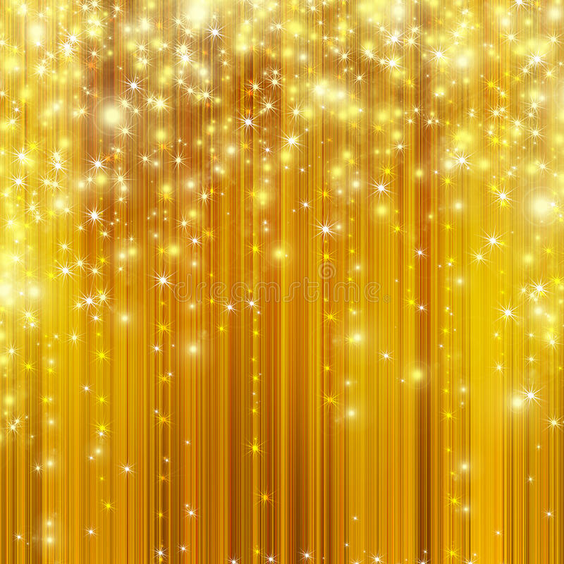 bakgrund som stiger ned guld- stjärnor stock illustrationer
