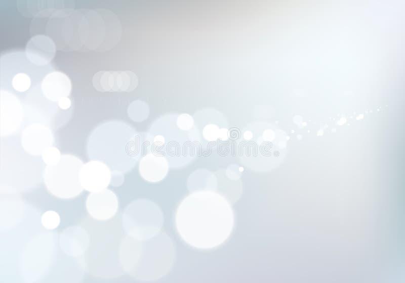 bakgrund suddigheta lampor Bokeh effekttextur Härlig vektorabstrakt begreppillustration stock illustrationer