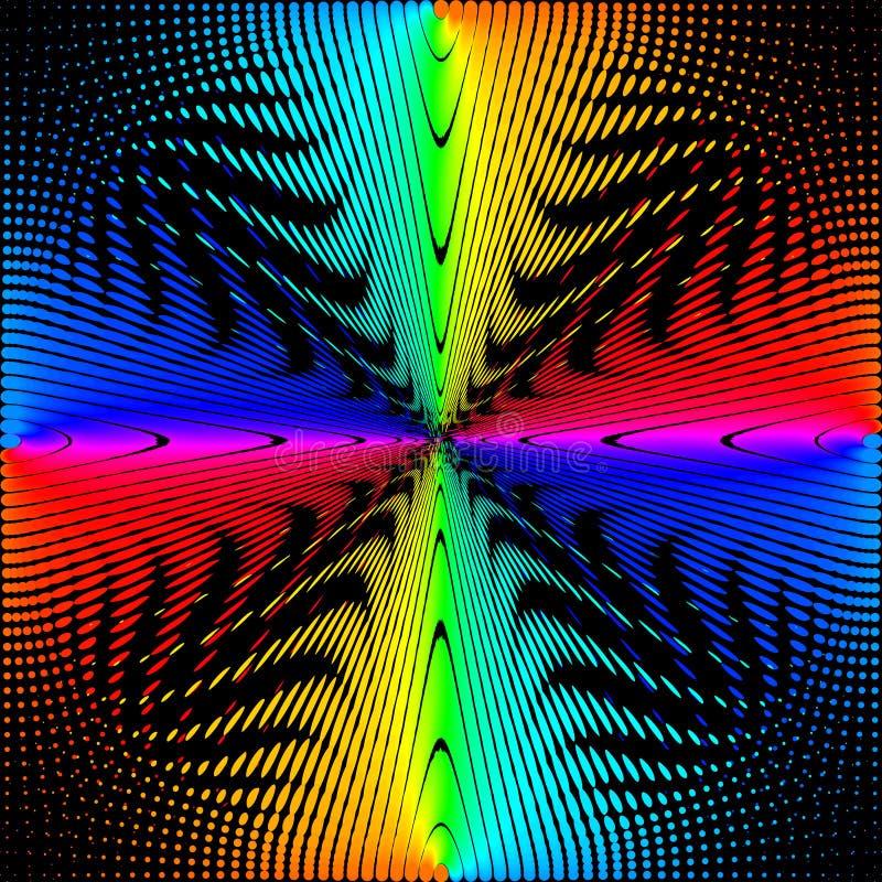 Bakgrund textur, abstraktion Färgade cirklar, bollar på en svart bakgrund isoleras stock illustrationer
