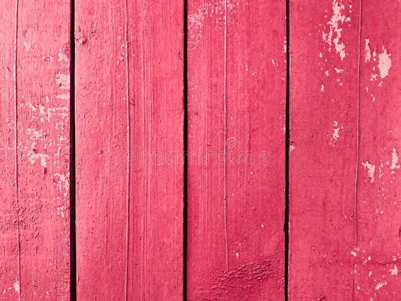 Bakgrund textur av de gamla grungy träbrädena av rosa färger färgar royaltyfria bilder