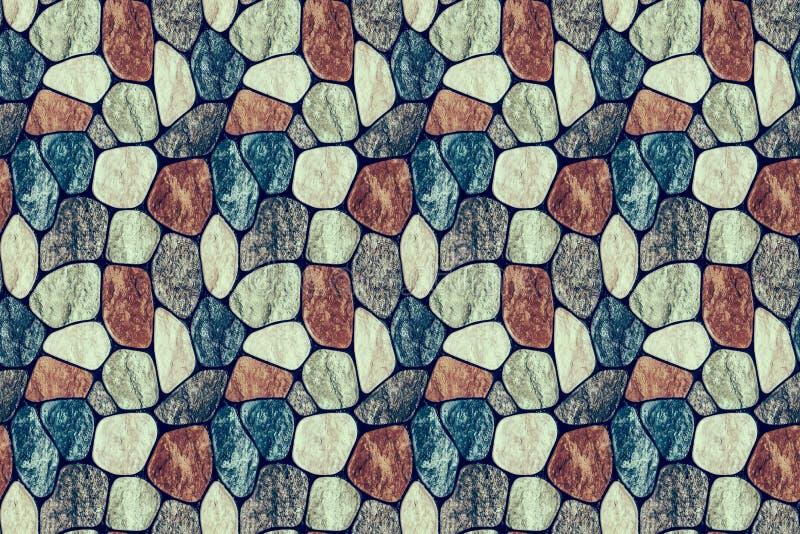 Bakgrund Texturen av stenväggen royaltyfri bild