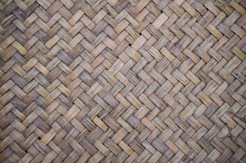 Baslet texturerar att väva för bambu royaltyfria foton