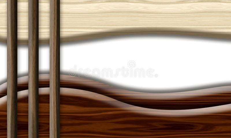 bakgrund texturerat trä abstrakt wave royaltyfri illustrationer