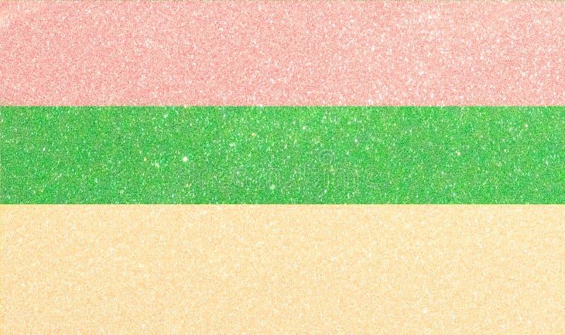 Bakgrund till strimlad färg Abstrakt futuristisk bakgrund med glitterhorisontella ränder royaltyfria foton