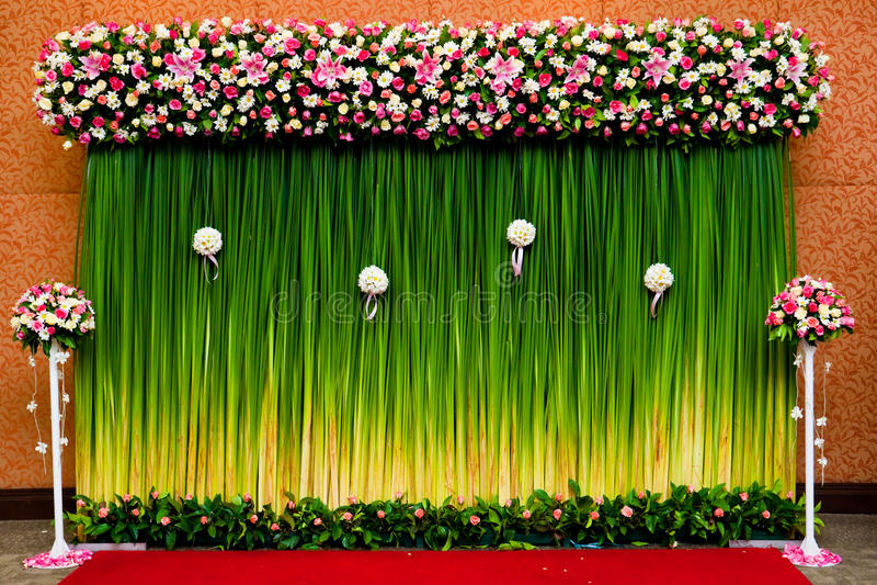 bakgrundceremoni blommar bröllop arkivfoto