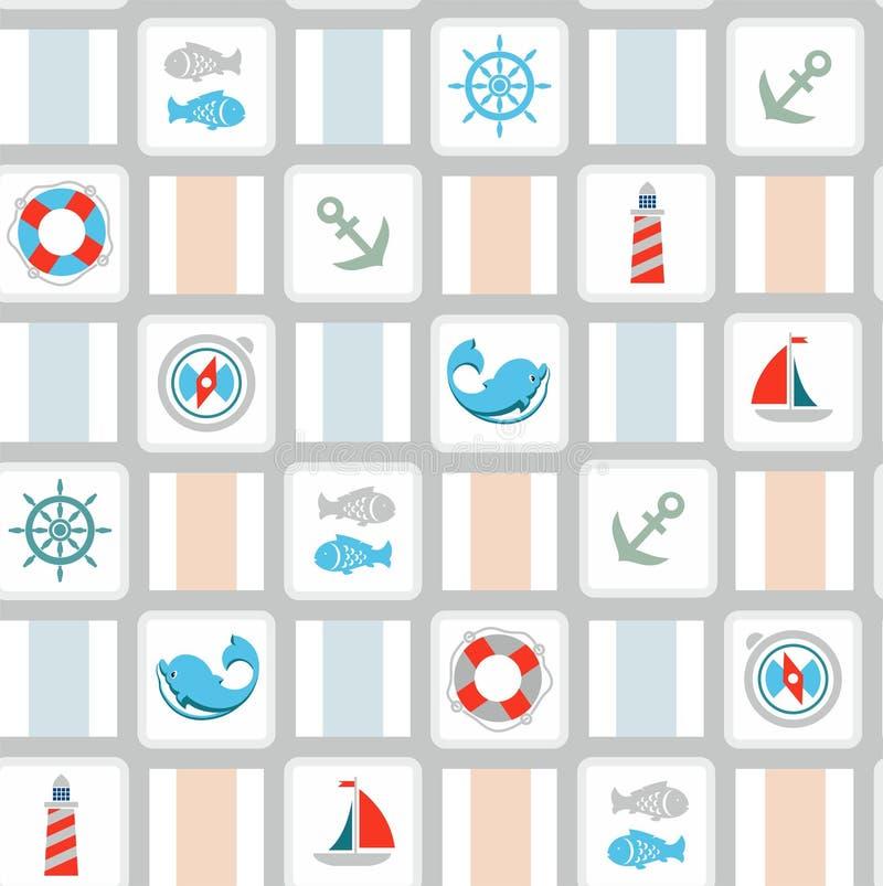 Bakgrunden av havet royaltyfri illustrationer