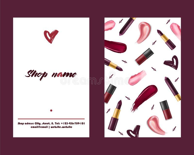 Bakgrunden in för illustrationen för konst för makeup för kanten för lipgloss för härligt mode för röd färg för läppstiftmodellve stock illustrationer