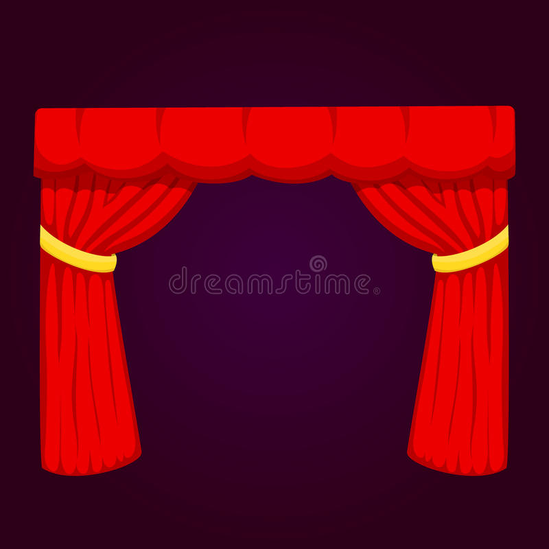 Bakgrunden för ingången för torkduken för kapaciteten för textur för tyg för etappen för gardinen för teaterplatsrullgardinen iso royaltyfri illustrationer