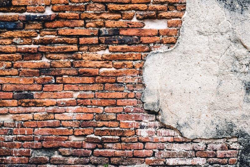 Bakgrunder av den gamla tappningtegelstenväggen royaltyfri fotografi
