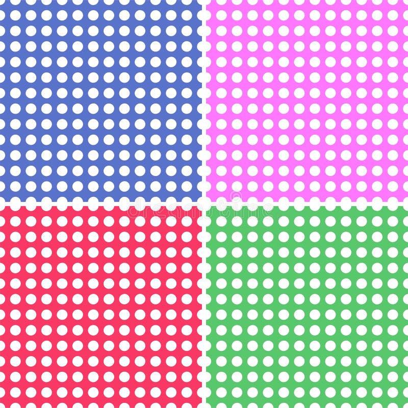 bakgrunder dot seamless polka fyra royaltyfri illustrationer