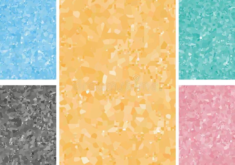 bakgrunder färgad set stock illustrationer