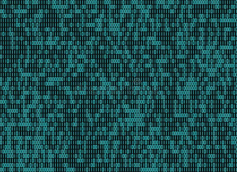 Bakgrunder för binär kod för information vektor illustrationer