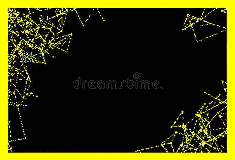 Bakgrunder för fast färg och geometriska linjer, hörn, cirklar vektor illustrationer