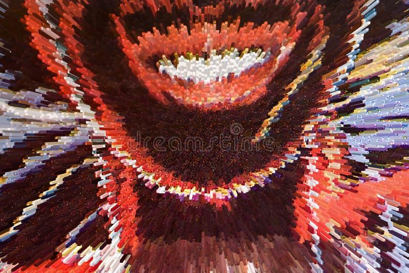 Bakgrunder i pressade ut blandade färger arkivbild