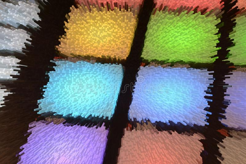 Bakgrunder i pressade ut blandade färger arkivbilder