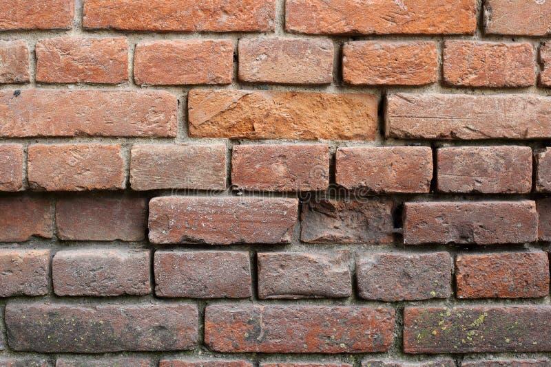 Bakgrunder som textureras - den abstrakta gamla bruna tegelstenväggen royaltyfri bild