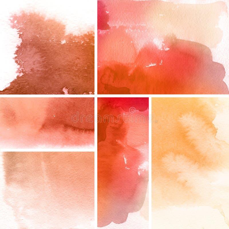 bakgrunder ställde in vattenfärg vektor illustrationer