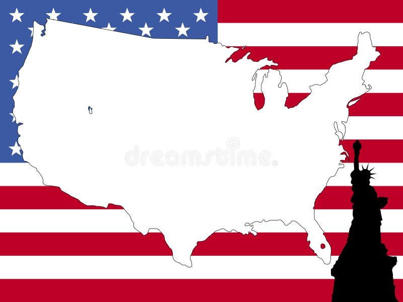 bakgrundsöversikt USA stock illustrationer