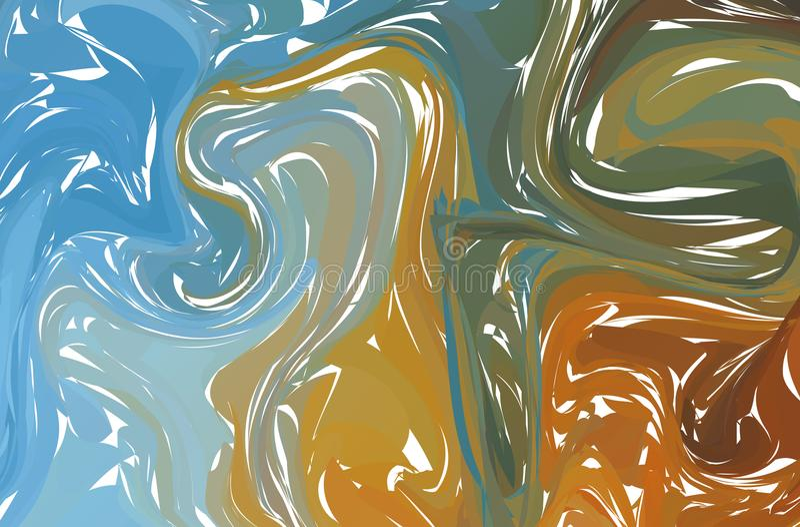 Bakgrunds- eller samkopieringstextur av ljus marmor i skuggor av pastell Vektor Eps10 Fluid färgrik formbakgrund stock illustrationer