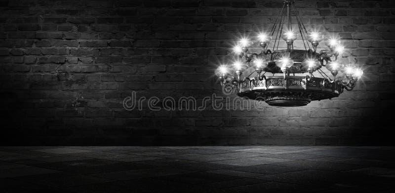 Bakgrundsabstrakt begrepp, abstrakt bakgrund, rök, smog Mörkt rum för nattsikt, rum, korridor med mycket ljus arkivbilder