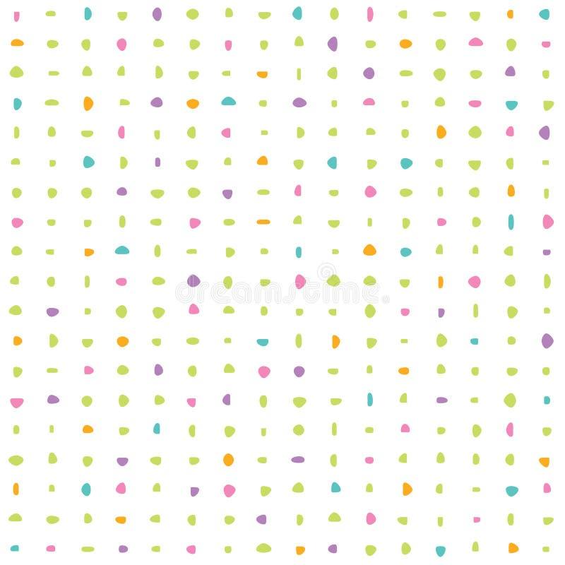 Bakgrundsabstrakt begrepptexturer färgade stenar som var färgrika på vita lodisar vektor illustrationer