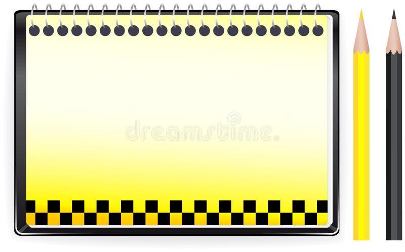 bakgrundsanteckningsboktecknet taxar transport royaltyfri illustrationer