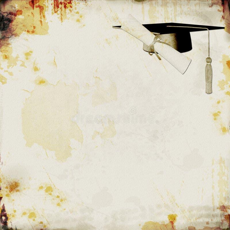 bakgrundsavläggande av examengrunge royaltyfri illustrationer
