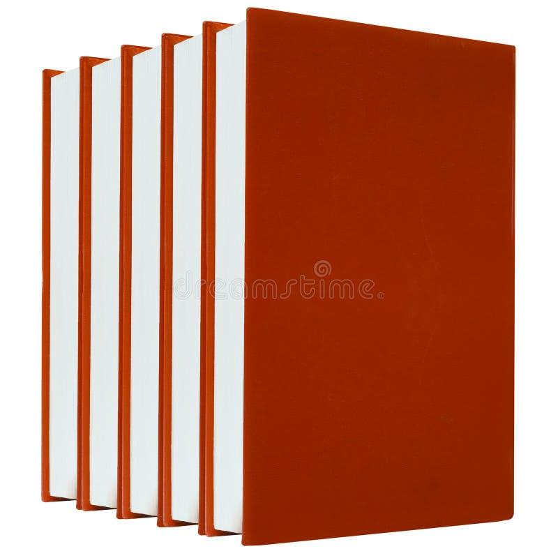 bakgrundsböcker isolerade röd white arkivbilder