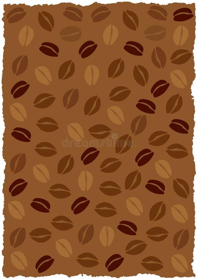 bakgrundsbönakaffe stock illustrationer