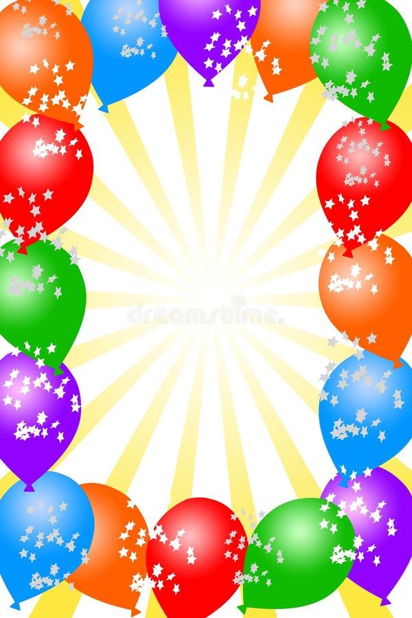 bakgrundsballong stock illustrationer