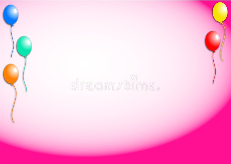 bakgrundsballonger royaltyfri illustrationer