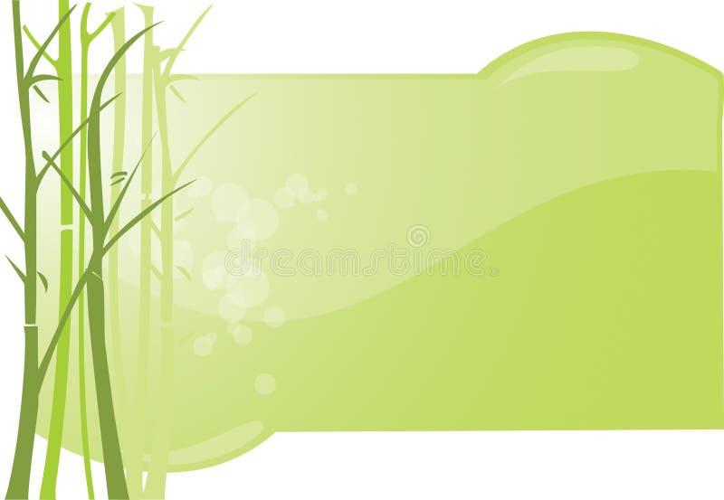 bakgrundsbambu stock illustrationer