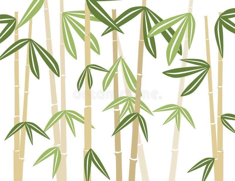 bakgrundsbambu royaltyfri illustrationer