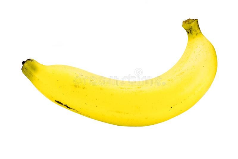 bakgrundsbananen som fäster den lätta mappen ihop, inkluderar banan som är mogen till vitt arbete royaltyfria foton