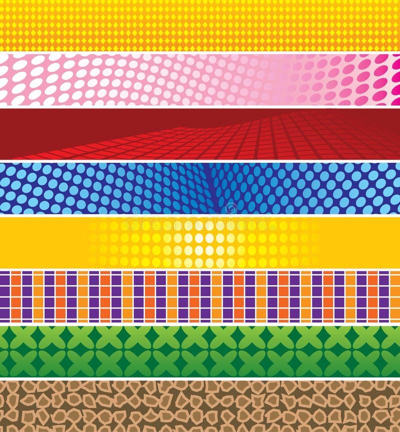 bakgrundsbaner vektor illustrationer