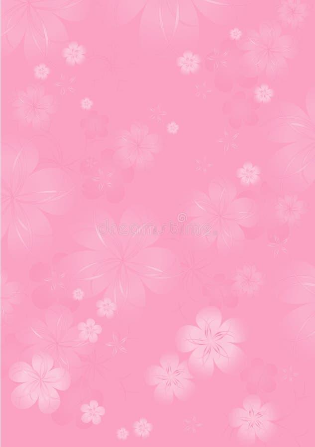 bakgrundsbanret blommar datalistor little rosa spiral Blommadesign abstrakt illustrationvektor Ljus - rosa Sakura blomstrar bakgr stock illustrationer