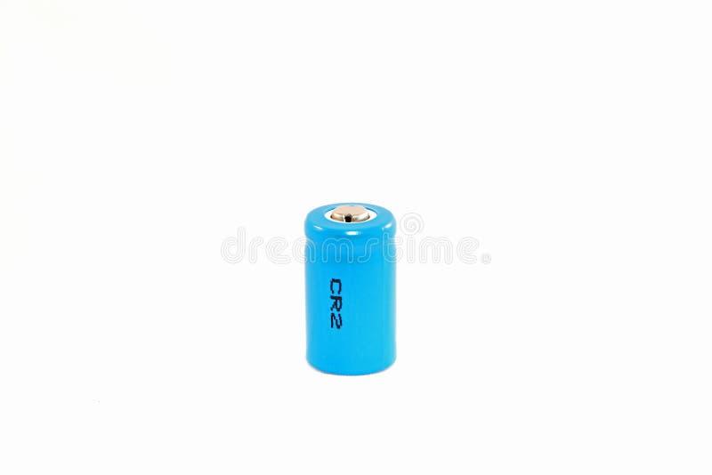 bakgrundsbatteriet cr2 isolerade lithiumwhite arkivfoton