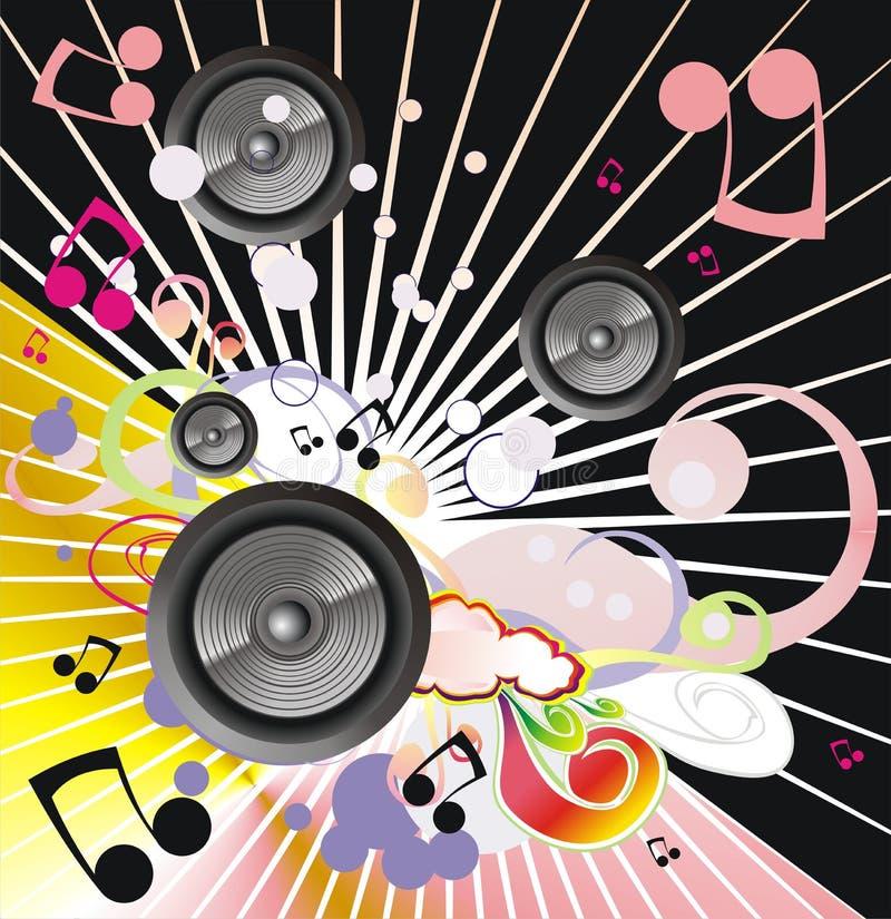 bakgrundsbegreppsmusik royaltyfri illustrationer