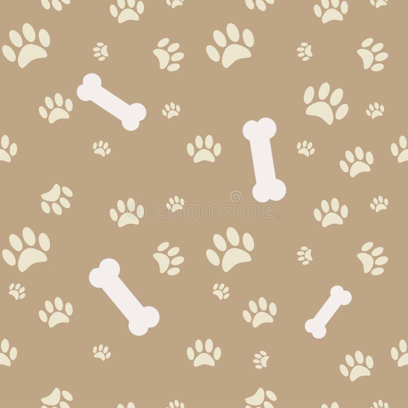 bakgrundsbenhunden tafsar trycket vektor illustrationer