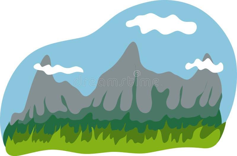 bakgrundsberg vektor illustrationer