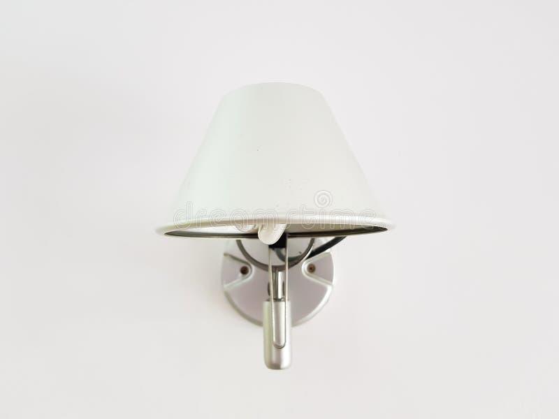 Bakgrundsbild av en vit lampa royaltyfri bild