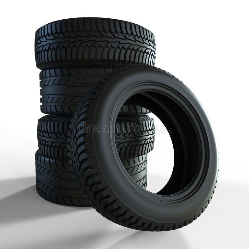 bakgrundsbildesignen tires vektorn stock illustrationer