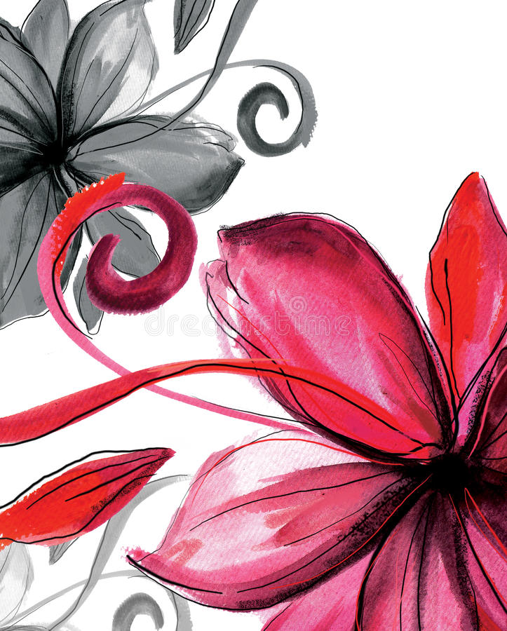 bakgrundsblomma stock illustrationer